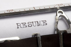 Resume Stock Image