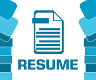 Resume Blue Abstract Shapes Square Royalty Free Stock Images