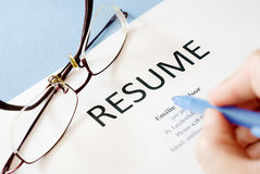Resume Stock Photos