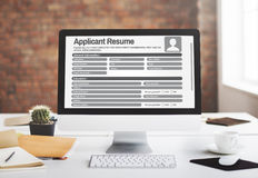 Resume Career Recruitment Employment Occupation Concept Royalty Free Stock Image