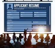 Resume Career Recruitment Employment Occupation Concept Royalty Free Stock Photos