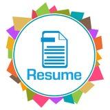 Resume Colorful Random Shapes Circle  Royalty Free Stock Image
