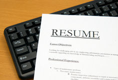Resume@cv Royalty Free Stock Photography
