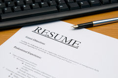 Resume@cv royalty free stock images