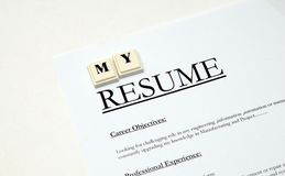 Resume@cv Royalty Free Stock Image