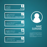 Resume / CV template design Royalty Free Stock Image