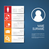 Resume / CV template design with tabs Stock Image