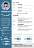 Resume and CV Template with nice design vector illustration