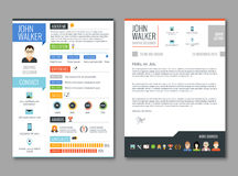 Resume cv template Stock Image