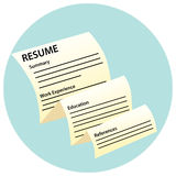 Resume Document Icon Stock Photo