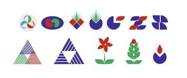 Resume elementos de los logotipos libre illustration