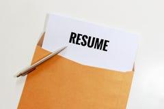 Proper resume envelope