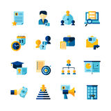 Resume Flat Color Decorative Icons Set Royalty Free Stock Photography