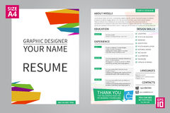 Resume Graphic designer Royalty Free Stock Images