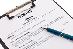 Resume isolated stock images