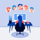 Resume on laptop screen. HR working, back view. Selecting staff. Searching professional staff. Analyzing personnel resume. Recruitment, concept of human Stock Photos