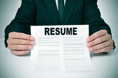 Resume Royalty Free Stock Images