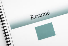 Resume and Matching Sticky Note Stock Photography