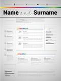 Resume Minimalist CV, Resume template with simple design, company application CV, Curriculum vitae, resume business sheet, clean. Employer resume stock illustration