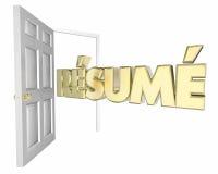 Resume Open Door Interview Job Opportunity Stock Images