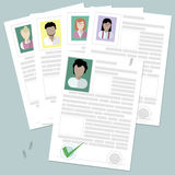 Resume at the table. Royalty Free Stock Images