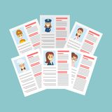 Resume on table. Stock Image