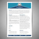 Resume template Royalty Free Stock Images