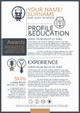 The Resume template Stock Images