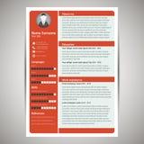Resume template Royalty Free Stock Photos