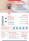 Resume template. Vector resume template. CV, Brochure layout,magazine Royalty Free Stock Photography