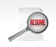 Resume under review concept illustration Stock Photo