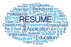 Resume Word Cloud Royalty Free Stock Photo