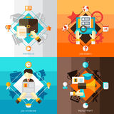 Resume 2x2 Design Concept Set Royalty Free Stock Image