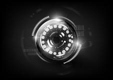 Resumen moderno tecnológico de la esfera del interfaz de comunicaciones globales Imagen de archivo libre de regalías