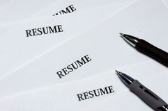 Resumes Royalty Free Stock Image