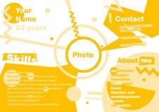 Resumo de Infographics ao estilo de Suprematism Resumo moderno do desenhista CV no infographics Fotografia de Stock