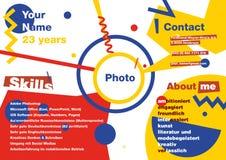 Resumo de Infographics ao estilo de Suprematism Resumo moderno do desenhista CV no infographics Foto de Stock