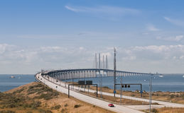 �resund link. The �resund link connecting Sweden and Denmark Royalty Free Stock Image