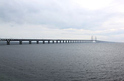 Öresundsbron between Sweden and Denmark, Sweden Royalty Free Stock Images