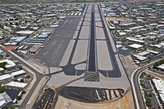 Resurfacing av flygplatsen Arkivfoto