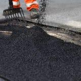 Resurfacing a estrada Foto de Stock