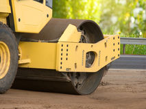 Resurfacing  road  wheel  movement Stock Image
