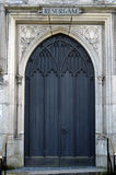 "Resurgam. Church door with the word ""RESURGAM"" above it, meening ""I will rise again Stock Photography"