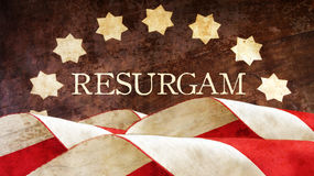 Resurgam. The Latin for I shall rise again. Usa Flag Royalty Free Stock Images