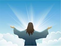 Resurrected Jesus Christ Vector Illustration