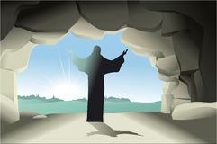 Resurrected Jesus Christ Royalty Free Stock Photography