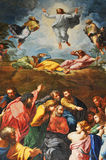 Resurrection. Rome, Italy - 28 March, 2012: Detail of Renaissance mosaic depicting biblical scene of Resurrection inside San Pietro (Saint Peter) basilica in Royalty Free Stock Image