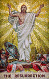 The Resurrection. Mosaic representing Jesus Christ's resurrection after being dead for three days stock photography