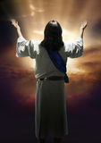 Resurrection. Easter image of the resurrection of Christ Royalty Free Stock Photos