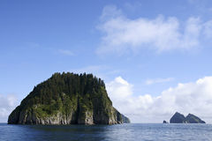 Resurrection bay. Beautiful island in Resurrection bay during boat trip stock photos